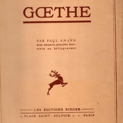 Goethe par Paul Amann