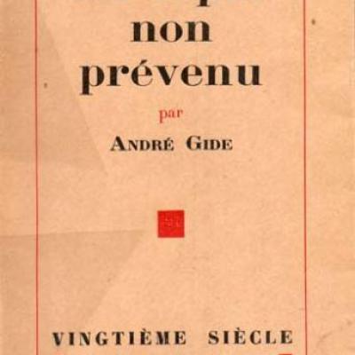 Un esprit non prévenu par André Gide