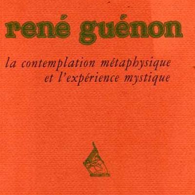Andruzac Christophe René Guénon La contemplation métaphysique et l'expérience mystique VENDU