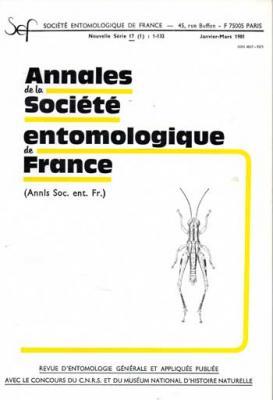 Collectif Annales de la société entomologique de France Janvier-Mars 1981