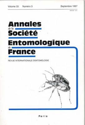 Collectif Annales de la société entomologique de France Septembre 1997