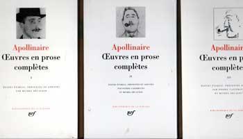 Apollinaire Oeuvres en prose complètes Volume 1 à 3