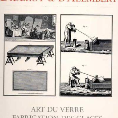 Collectif Art du verre Fabrication des glaces Encyclopédie Diderot et d'Alembert