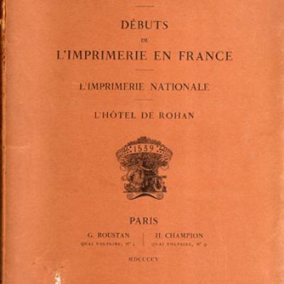 Débuts de l'imprimerie en France par Arthur Christian