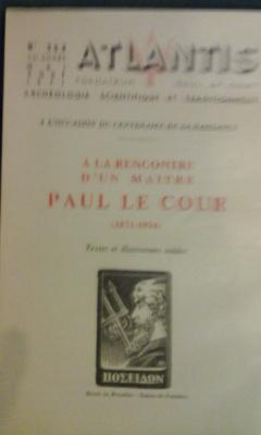 Collectif A la rencontre d'un maître Paul Le Cour Revue Atlantis