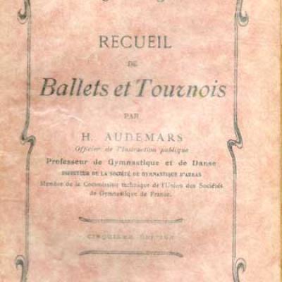 Audemars H. Recueil des Ballets et Tournois VENDU
