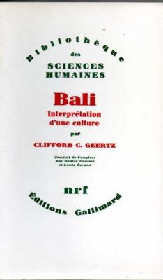 Geertz C.C. Bali Interprétation d'une culture