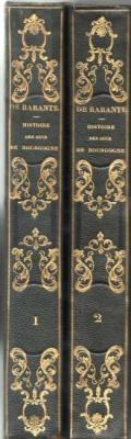Histoire des Ducs de Bourgogne par M.De Barante. Série de 12 volumes reliés