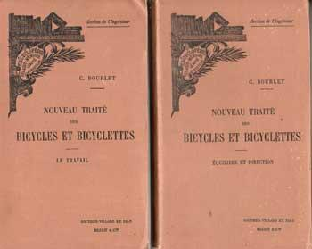 Bourlet C. Nouveau Traité des Bicycles et Bicyclettes En deux volumes VENDU