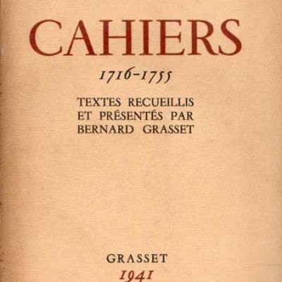 Montesquieu Cahiers 1716-1755