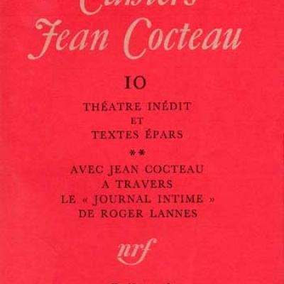 Jean Cocteau Cahiers Jean Cocteau Numéro 10