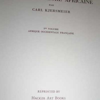 Kjersmeier Carl Centres de style de la sculpture nègre africaine Quatre volumes en 1 VENDU