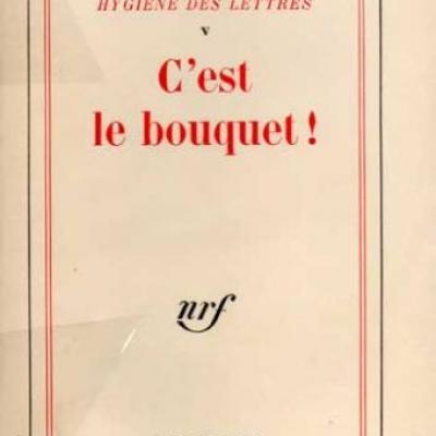 Hygiène des lettres Volume V par Etiemble. Envoi d'Etiemble à Jacques Brenner