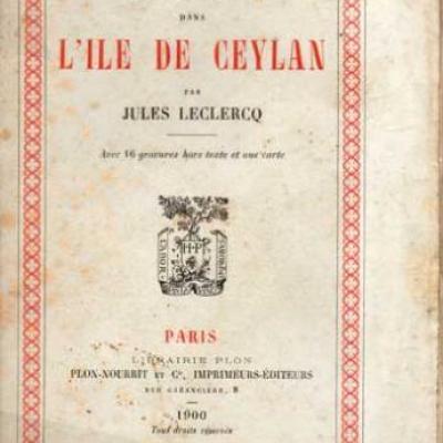 Un séjour dans l'île de Ceylan par Jules Leclercq