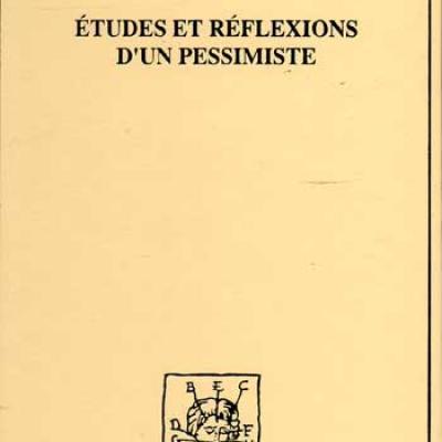 Challemel-Lacour Etudes et réflexions d'un pessimiste