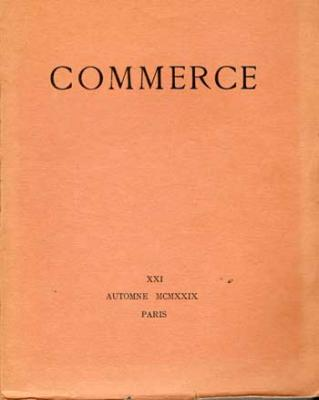 Commerce Cahier XXI Autome 1929