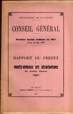 Département de la Sarthe. Conseil général. 1ere session ordinaire de 1957