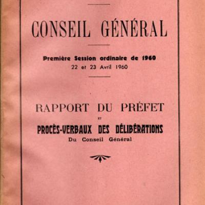 Département de la Sarthe. Conseil général. Première session de 1960