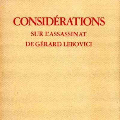 Debord Guy Considérations sur l'assassinat de Gérard Lebovici