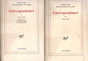 Gide André Roger Martin Du Gard Correspondance