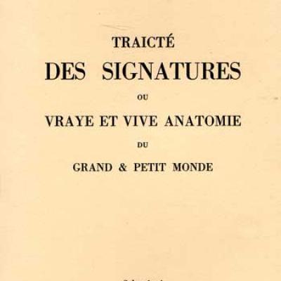 Crollius Oswald Traicté des signatures