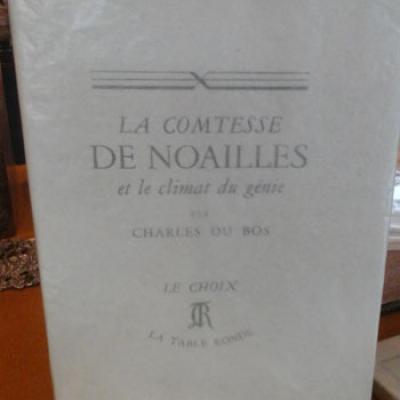 Du Bos Charles La comtesse de Noailles et le climat du génie