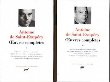 De Saint-Exupéry Oeuvres complètes Tome 1 et 2 VENDU