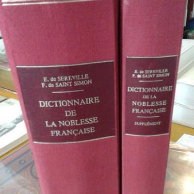 De Sereville et De Saint-Simon Dictionnaire de la noblesse française