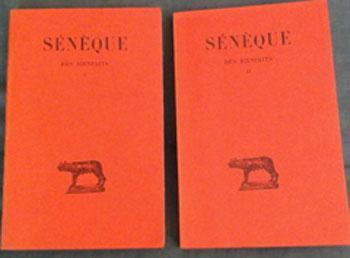 Sénèque Des bienfaits Tome 1 et 2