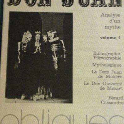 Collectif Don Juan Analyse d'un mythe Vol.1