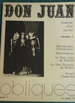 Collectif Don Juan Analyse d'un mythe Vol.1