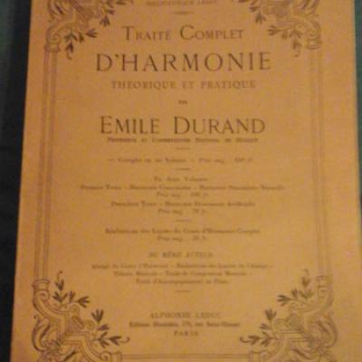 Durand Emile Traité complet d'Harmonie Théorique et Pratique VENDU