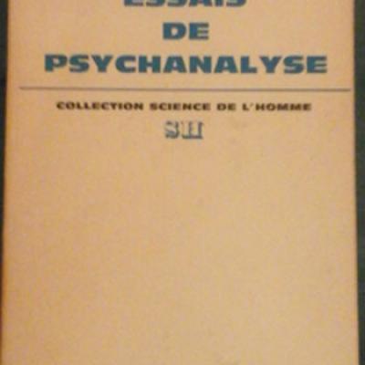Klein Mélanie Essais de psychanalyse
