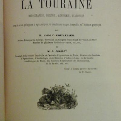 Chevalier C. Etudes sur la Touraine