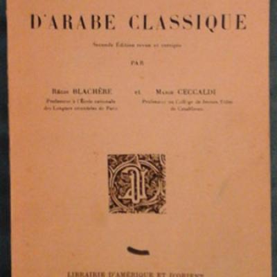 Blachère et Ceccaldi Exercices d'arabe classique