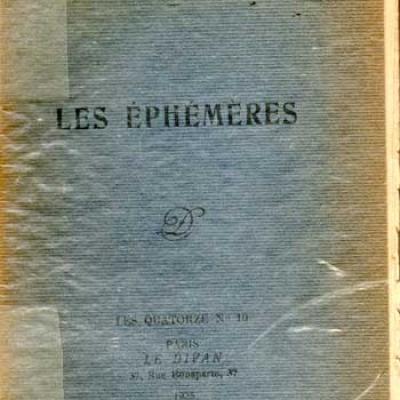 Fagus Les Ephémères Le Divan, 1925 Réservé