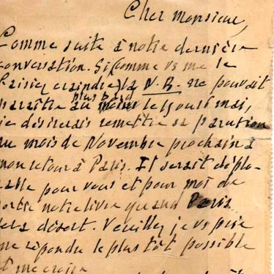 Carte manuscrite de Georges Fourest à L.R.Doyon VENDU