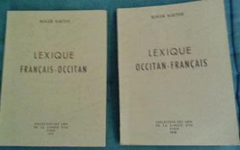 Barthe Roger Lexique Français-Occitan Occitan-Français