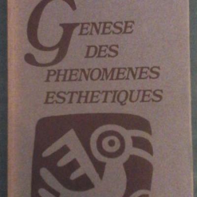 Eyot Y. Genèse des phénomènes esthétiques