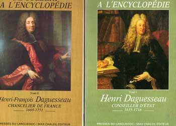 Chartier Henri Daguesseau conseiller d'état Tome 1 et 2