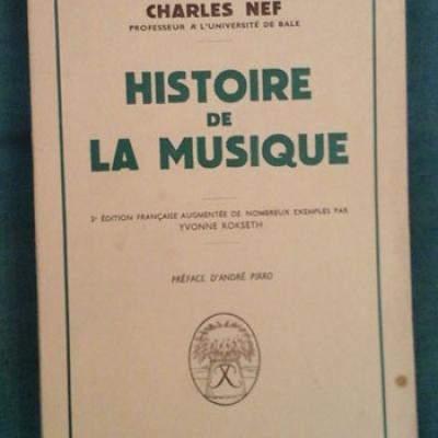 Nef Charles Histoire de la musique