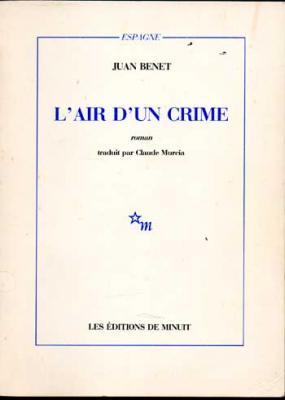 Benet Juan L'air d'un crime