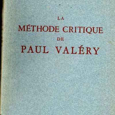 Bémol Maurice La méthode critique de Paul Valéry