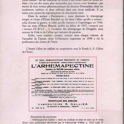 L'année Céline 1998. Du Lérot