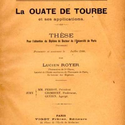 Royer Lucien La ouate de tourbe et ses applications