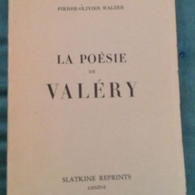 Walzer P.O. La poésie de Valéry