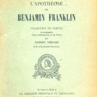 Chinard Gilbert présente L'apothéose de Benjamin Franklin