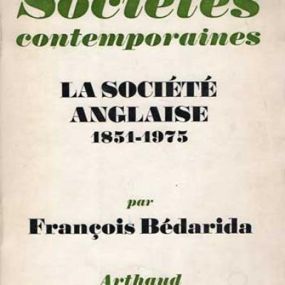 La société anglaise 1851-1975 par François Bédarida