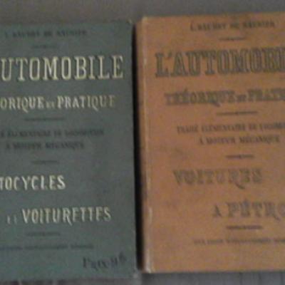 Baudry de Saunier L'automobile Théorique et Pratique Deux volumes VENDU