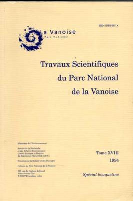 Collectif Travaux scientifiques du Parc National de la Vanoise Spécial Bouquetins Tome XVIII